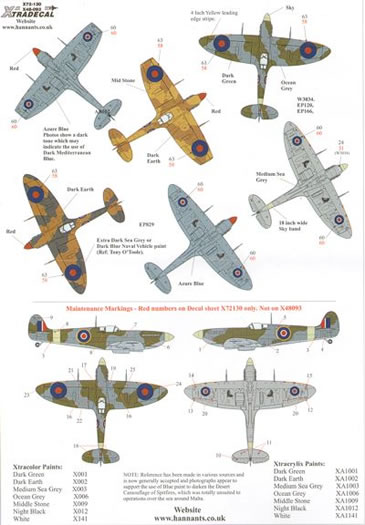 Xtradecal Spitfire Mk. Vb Xtradecal X32043 Xtradecal ...