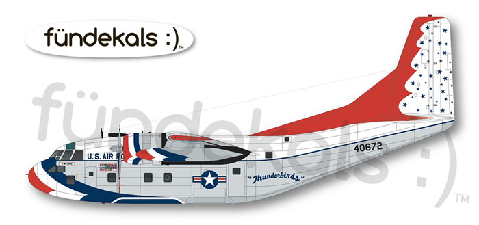 f ndekals usaf thunderbirds c 123b provider decal preview