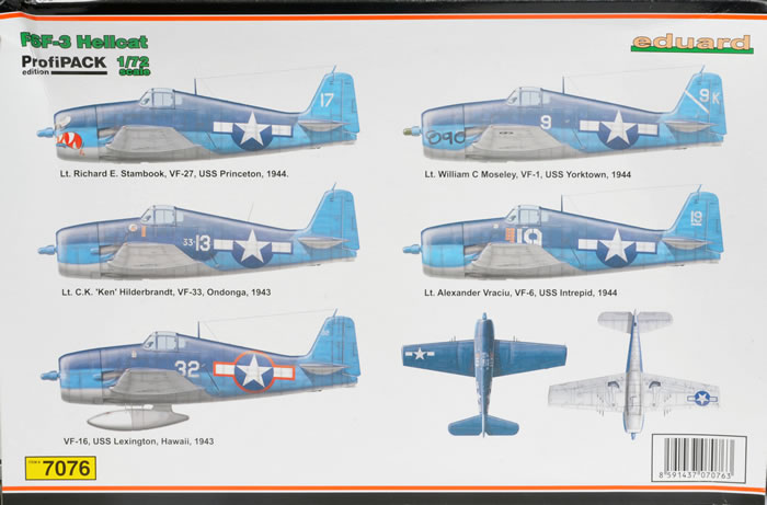 Eduard s 1 72 scale f6f 3 hellcat will be available online from