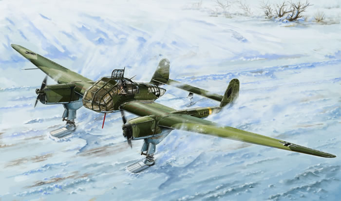 Focke Wulf Fw 189 With Skis Preview